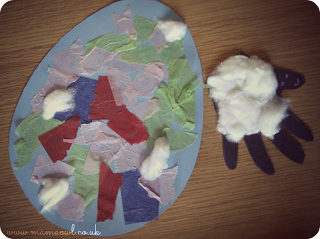 easter hand print lambs crafts