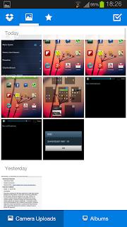 Caricamenti da fotocamera su Dropbox su Android
