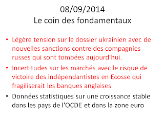 actualités économiques et boursières 08/09/2014