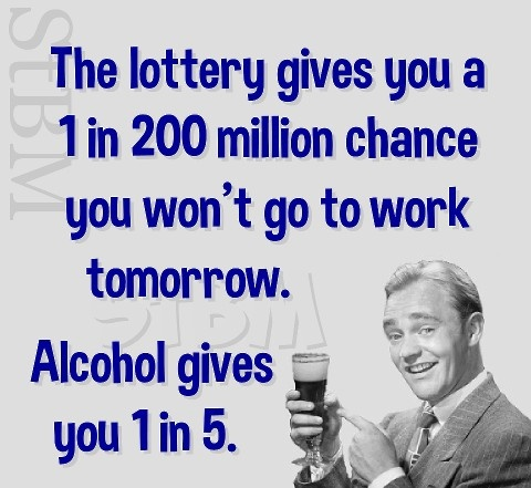 Alcohol gives you 1 in 5.