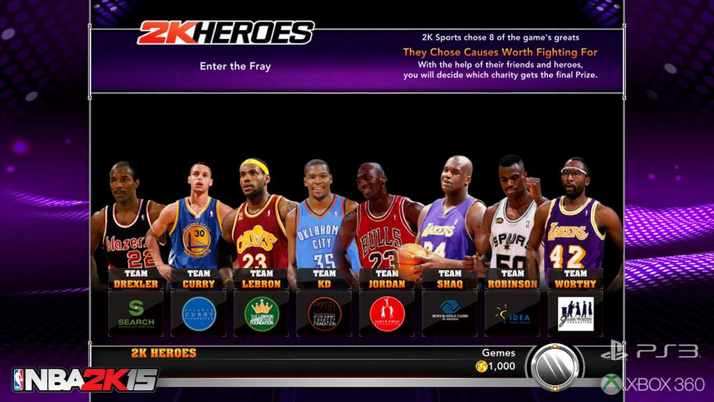 NBA 2K15 2K Heroes Mode Revealed : PS3 / XBOX 360 Exclusive