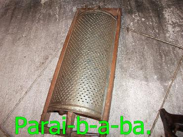 Ralo usado para ralar milho verde.