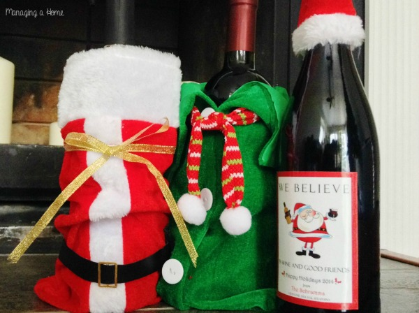 Holiday Hostess Gift Ideas. Enter to win your own Personalized Holiday Wine Labels