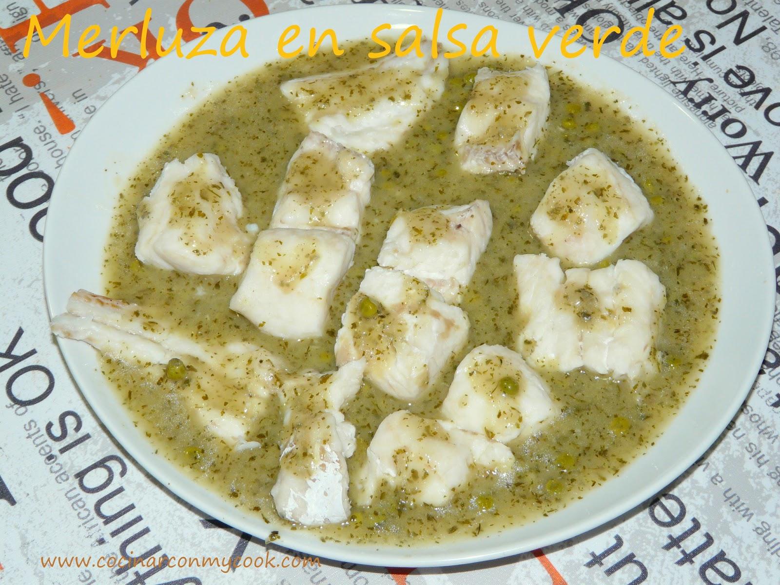 Cocinar con mycook merluza en salsa verde - Cocinar merluza en salsa ...