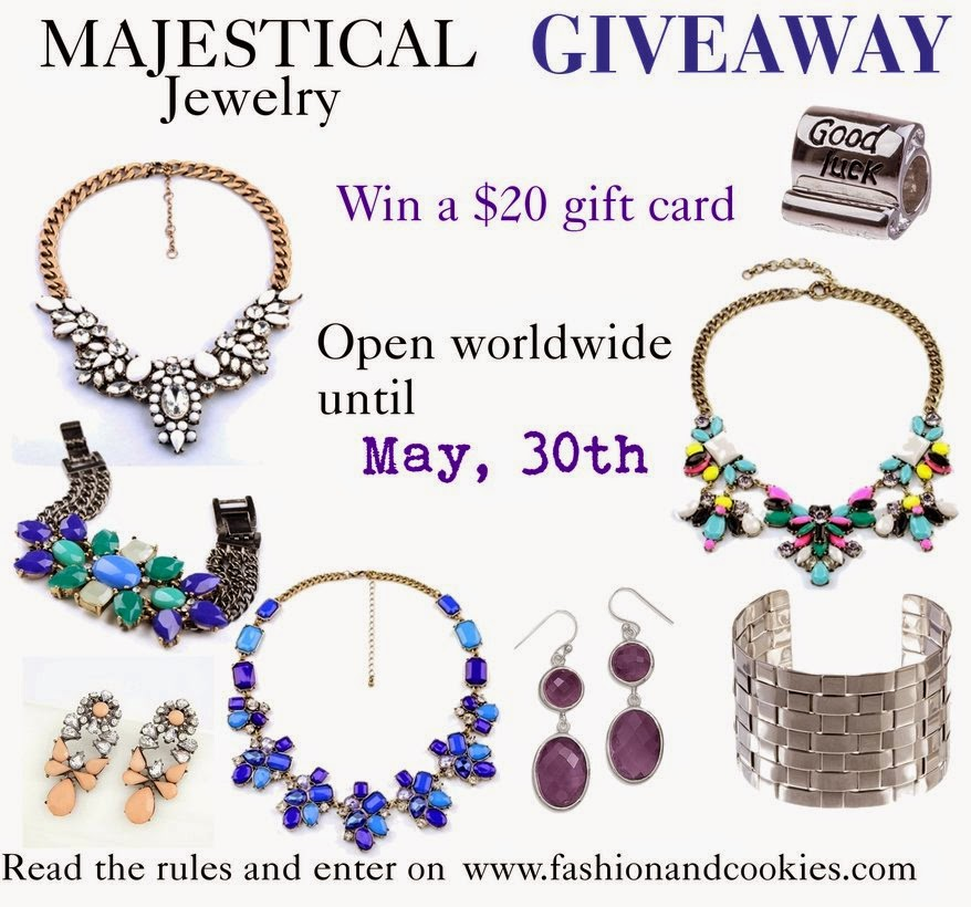 Majestical Jewelry $20 gift card Giveaway, win a 20$ gift card, Fashion and Cookies