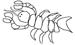 lobster, lobster drawing, lobster colouring page, lobster coloring page