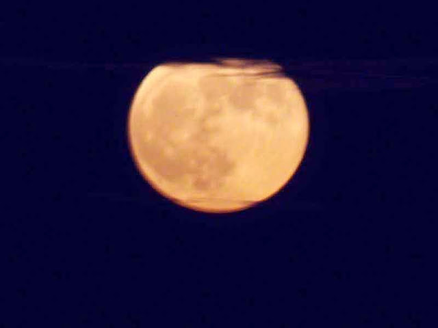 blurry, full moon, image, clouds
