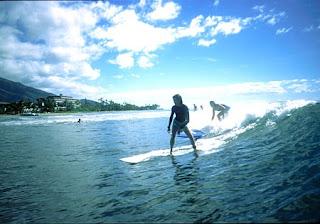 Goofy foot surf Lahaina
