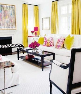 sala con tintes rosa