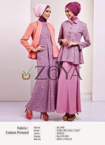 Gamis Zoya Terbaru Modern Office Tunik And Dress