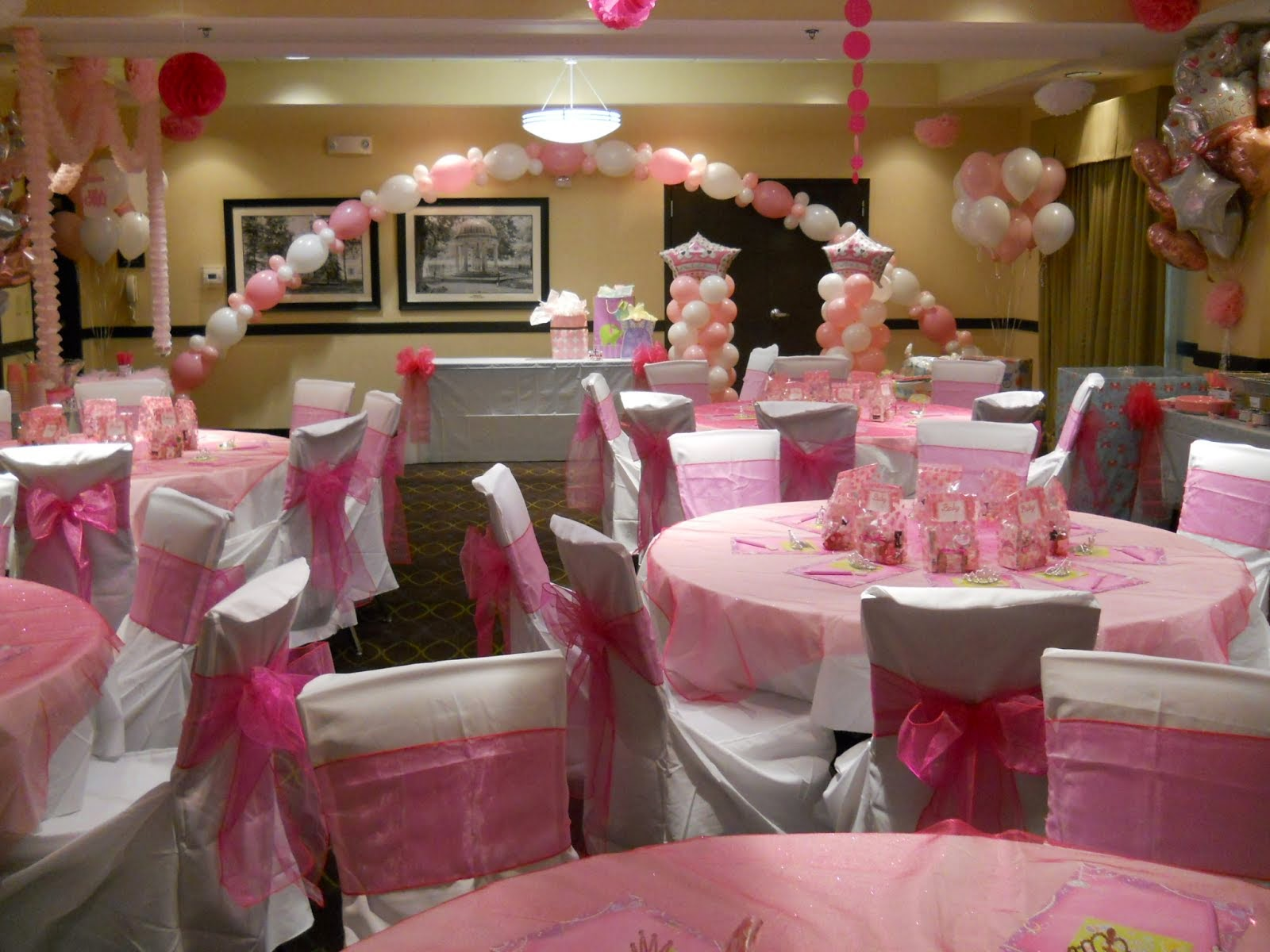 Celebrate the day wedding reception balloon decorations for Baby shower party hall decoration ideas
