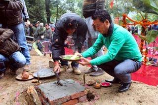 Bimal Gurung lays foundation stone for a Nepali Academy at Dali Darjeeling