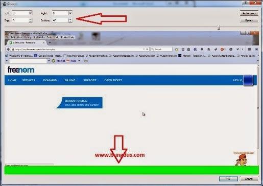 cara crop video dengan avidemux