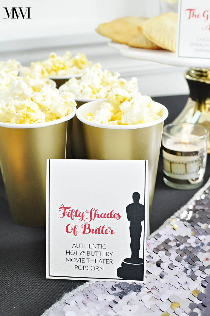 Oscar award show academy party ideas