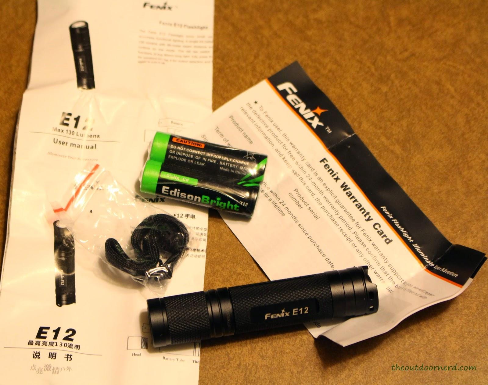 Fenix E12 1xAA EDC Flashlight Packaging 4