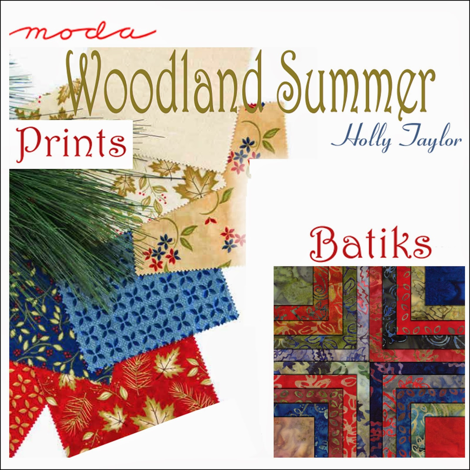 Moda WOODLAND SUMMER PRINTS BATIKS Quilt Fabric by Holly Taylor