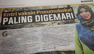 JULIA JOHARI IN BLOGGER PILIHAN AKHBAR UTUSAN MALAYSIA