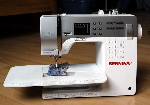 nähmaschine zieht stoff ein