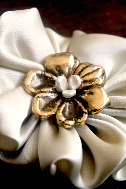silk flower hair accessory - catherine masi