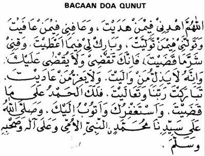 ... doa qunut dan terjemahan berikut bacaan doa qunut dan terjemahannya