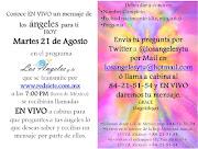 Etiquetas: mensajes de los ángeles, ángeles (llamadas en vivo)