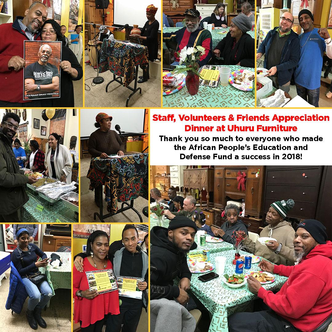 Staff, Volunteers & Friends Appreciation Dinner