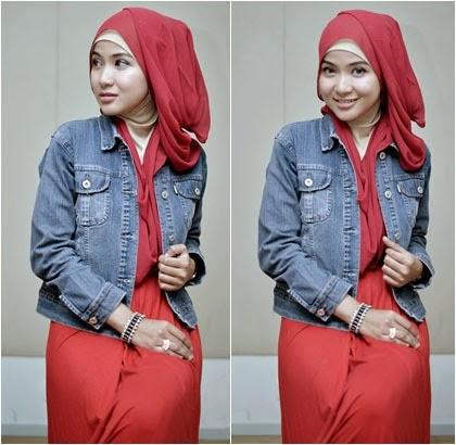 Tutorial Hijab Pashmina Sifon Praktis dan Style Santai 5 2014