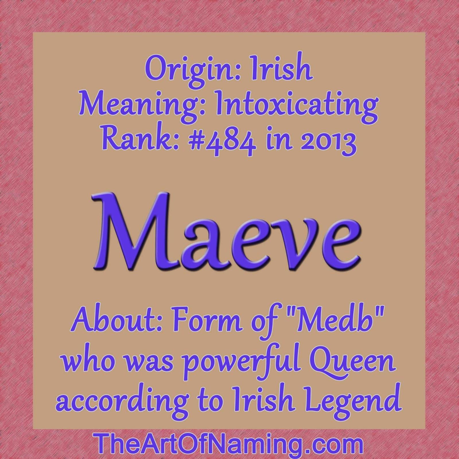 The Art Of Naming Girl Name Week Maeve
