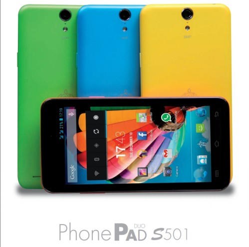 Nuovo smartphone android Kitkat PhonePad Duo S501