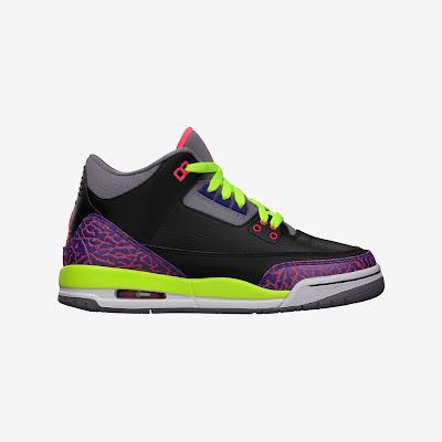 Air Jordan 3 Retro (3.5y-7y) Girls' Shoe # 441140-039