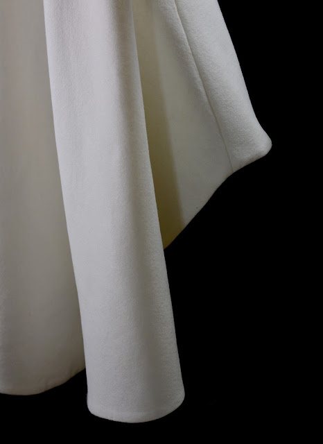 1960s wool wedding dress by alexandra king bridal