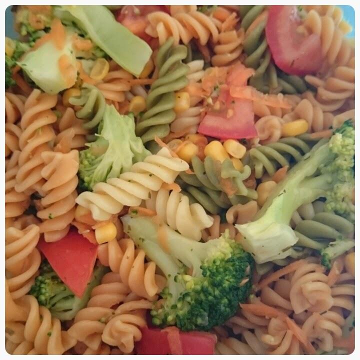 rainbow pasta salad