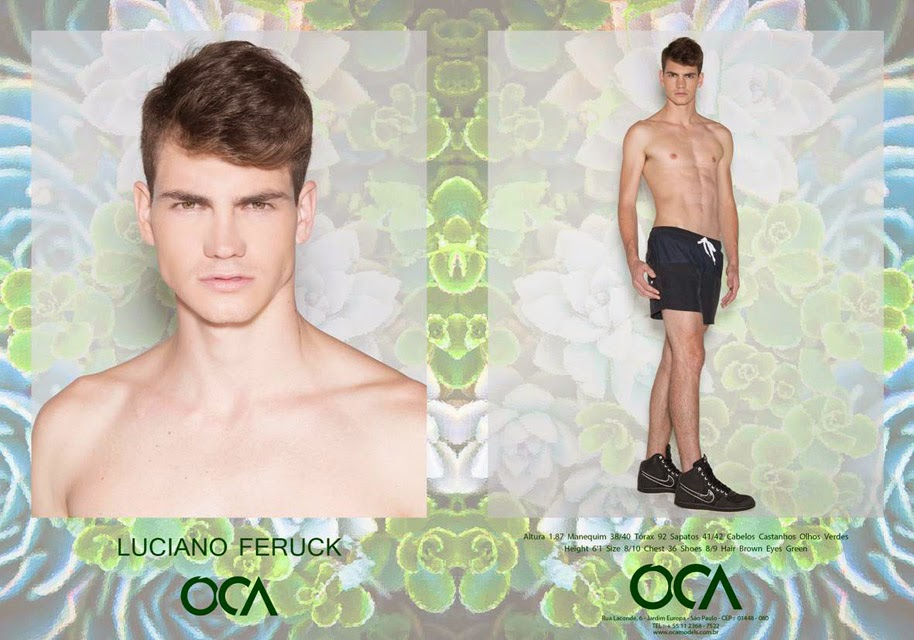 Composite do modelo Luciano Feruck pela Oca Models. Foto: Gael Oliveira