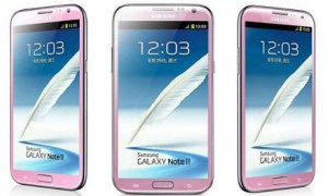 Galaxy Note II Berwarna Pink