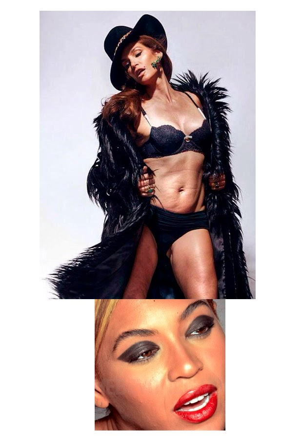 Cindy Crawford Beyoncé no photoshop
