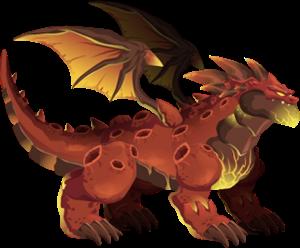 imagen del dragon meteoro adulto