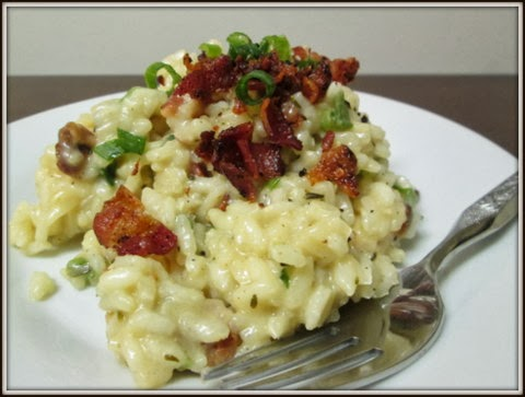 Bacon and Green Onion Risotto