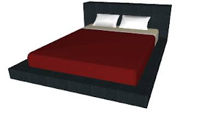 Trimble 3D Warehouse - Blu Dot Dodu Queen Bed