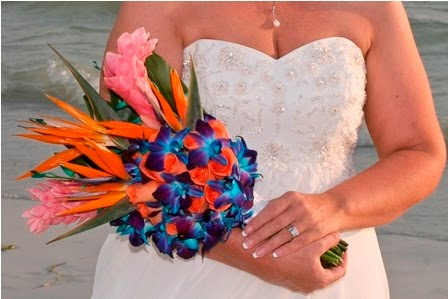 The winner of the Best Florida Beach Wedding Bouquet 2010 was Kym Manglona
