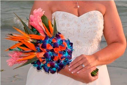 The winner of the Best Florida Beach Wedding Bouquet 2010 was Kym Manglona