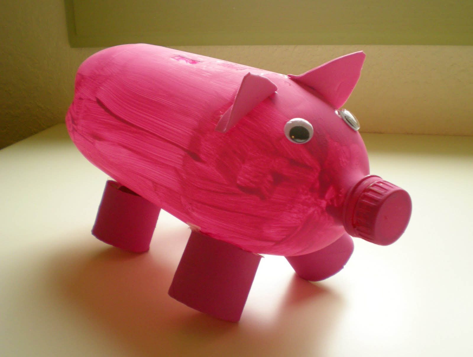 viridorari recycling projects plastic bottle piggy bank