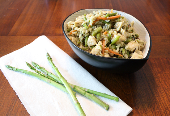ME AND MY TADPOLE: Chicken & Asparagus with Wild Rice