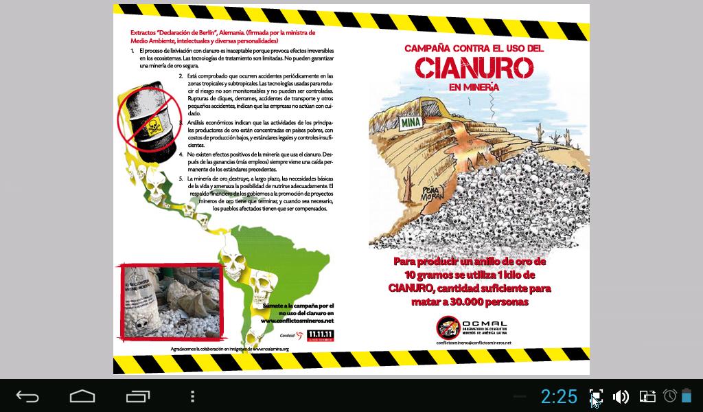 para producir un anillo de oro de 10g se utiliza 1k de cianuro cantidad suficiente para matar a 30000 personas