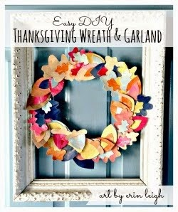 Easy DIY Thanksgiving Wreath & Garland