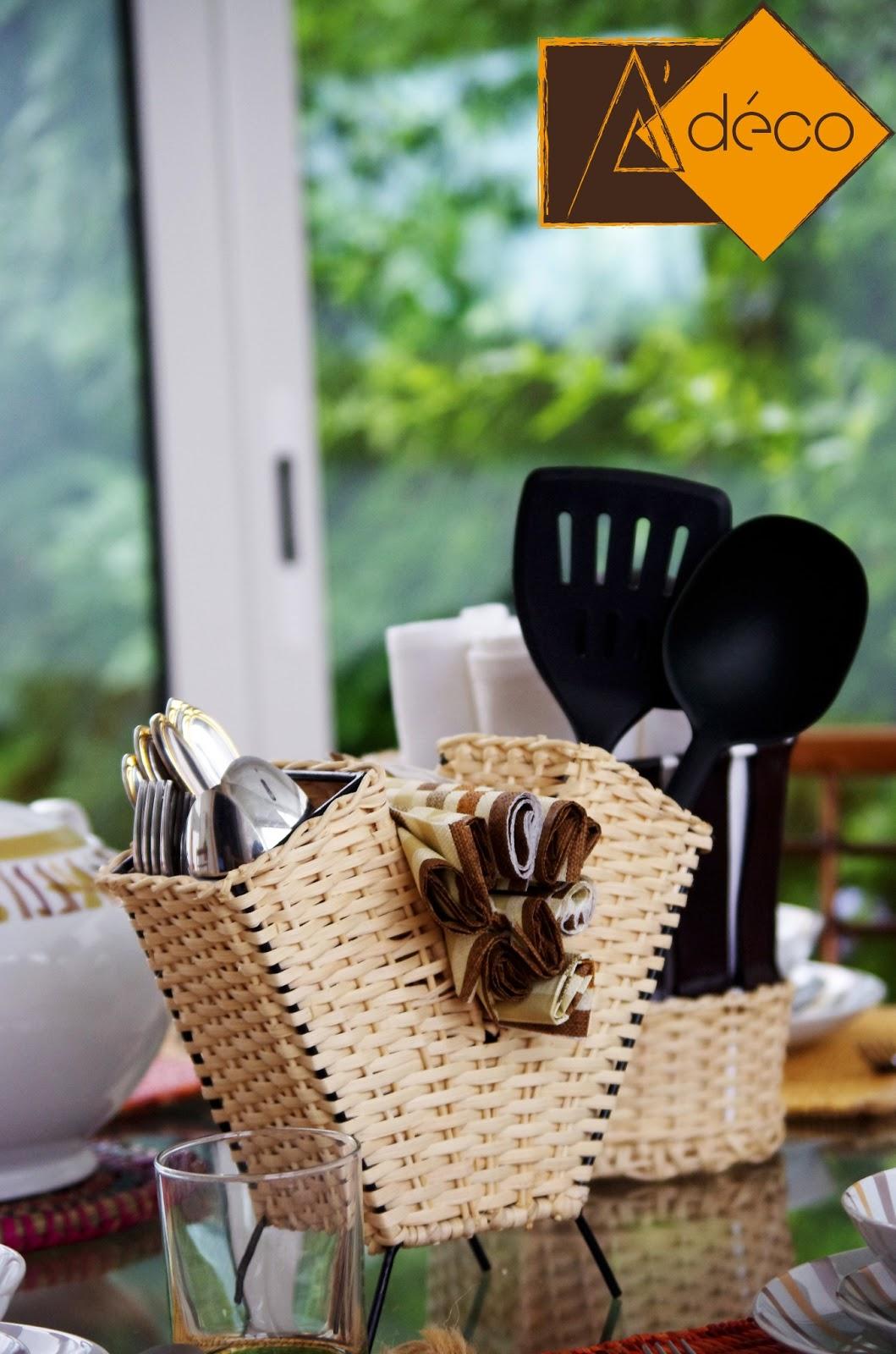A 39 d co tunisie le pr sentoir de couverts kyet for Presentoir ustensile cuisine