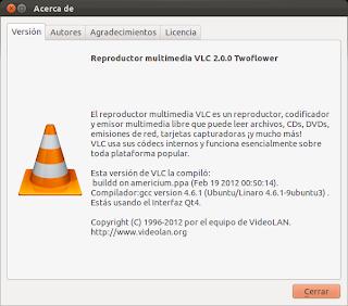 Instalar Vlc 2.0 en Ubuntu 11.10 Oneiric Ocelot