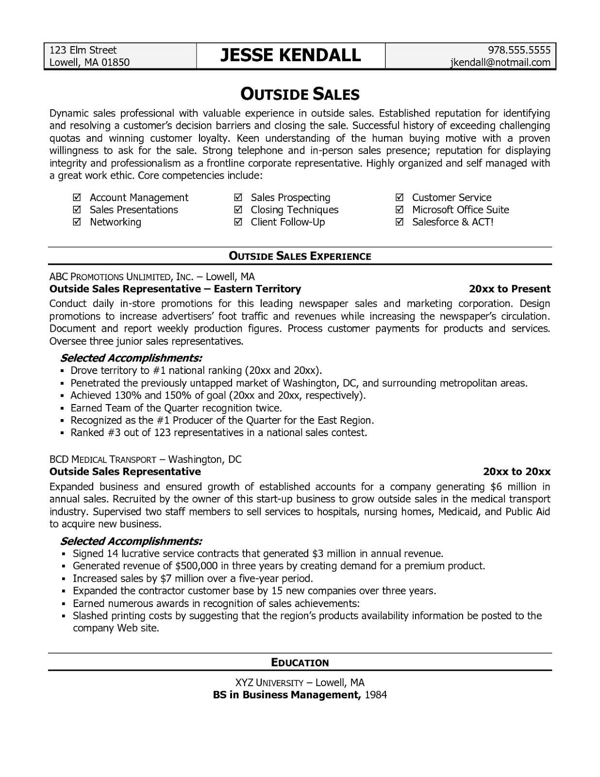 National Sales Manager Resume 27.05.2017