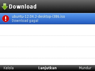 Opera Mini gagal download