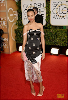 Zoe Saldana Golden Globes