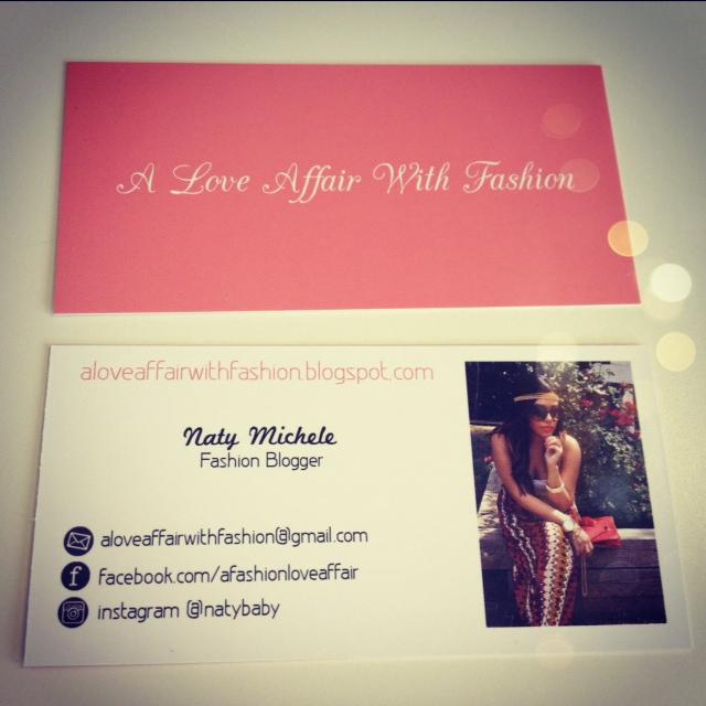 A Love Affair With Fashion : Fashion Blogger Business Cards!